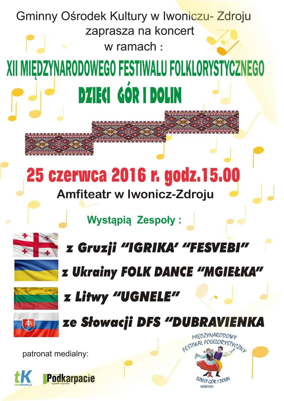 Koncert XII Międzynarodowego Festiwalu Folklorystycznego Dzieci Gór i Dolin