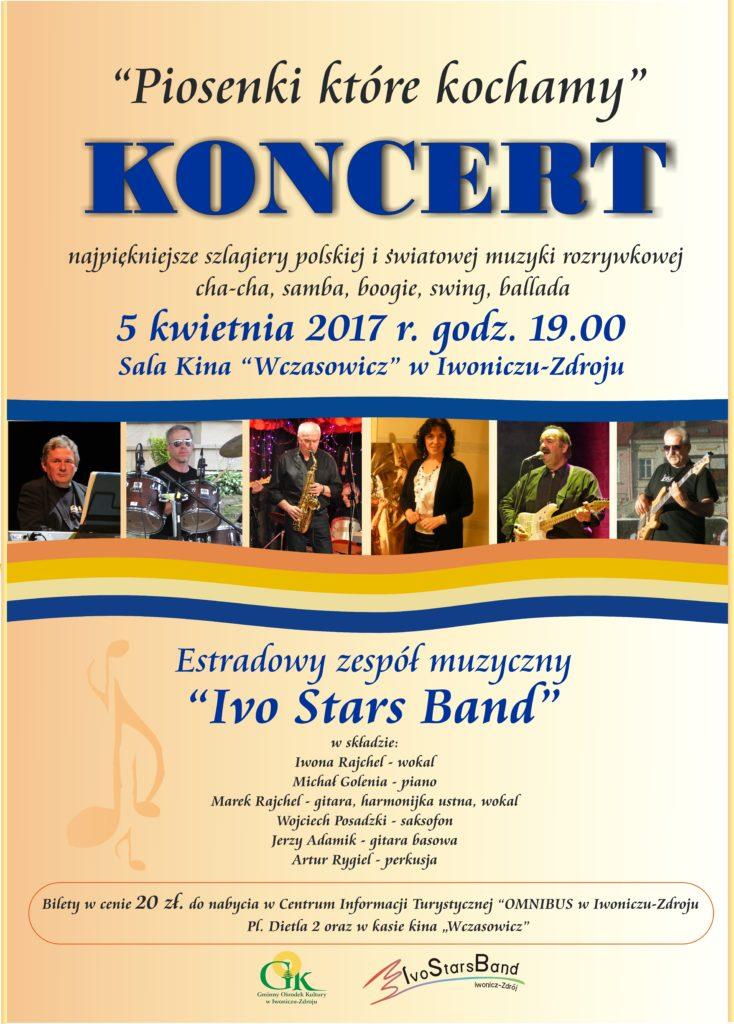 """""""Piosenki, które kochamy"""" Koncert Zespołu Ivo Stars Band"""