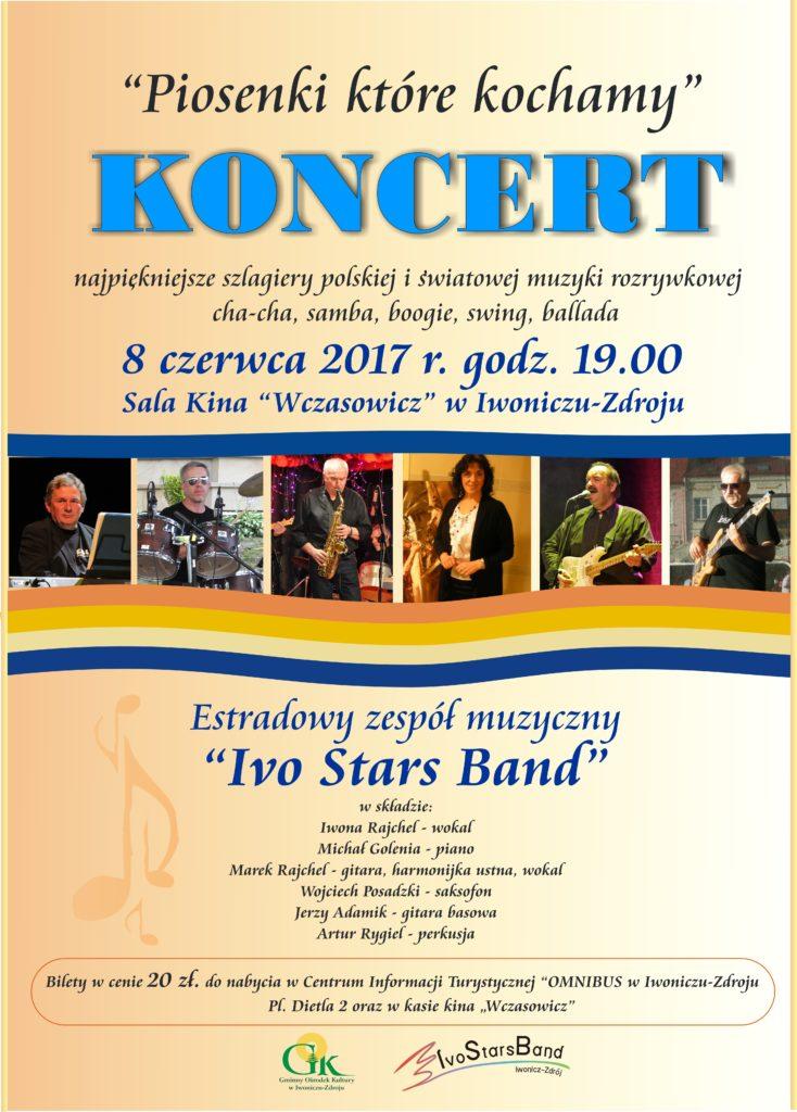 """Koncert zespołu """"Ivo Stars Band"""" Piosenki które kochamy"""