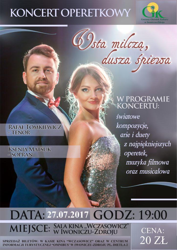 """Koncert operetkowy """"Usta milczą, dusza śpiewa"""""""