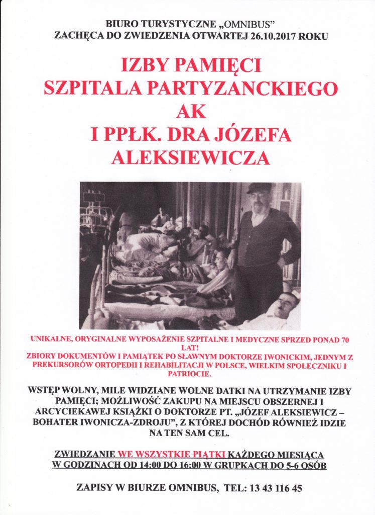 Izba Pamięci Szpitala Partyzanckiego AK i Ppłk. Dra Józefa Aleksiewicza