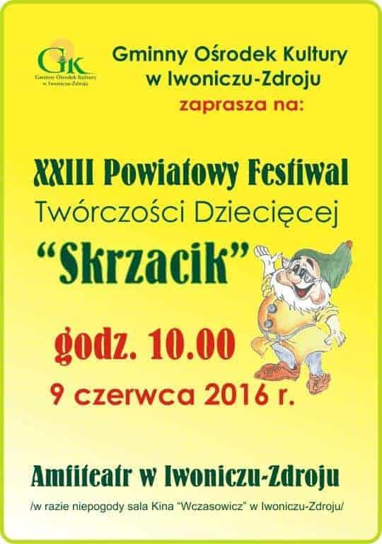 """XXIII Powiatowy Festiwal Twórczości Dziecięcej """"Skrzacik"""""""
