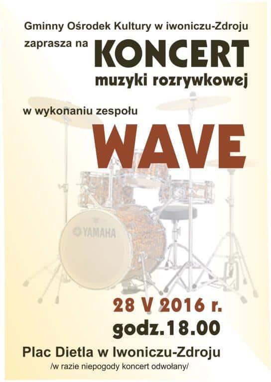 Koncert Muzyki Rozrywkowej – Zespół WAVE