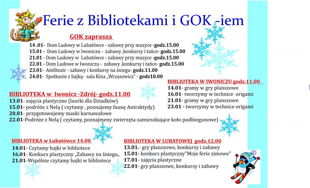 FERIE Z BIBLIOTEKAMI I GOK-iem
