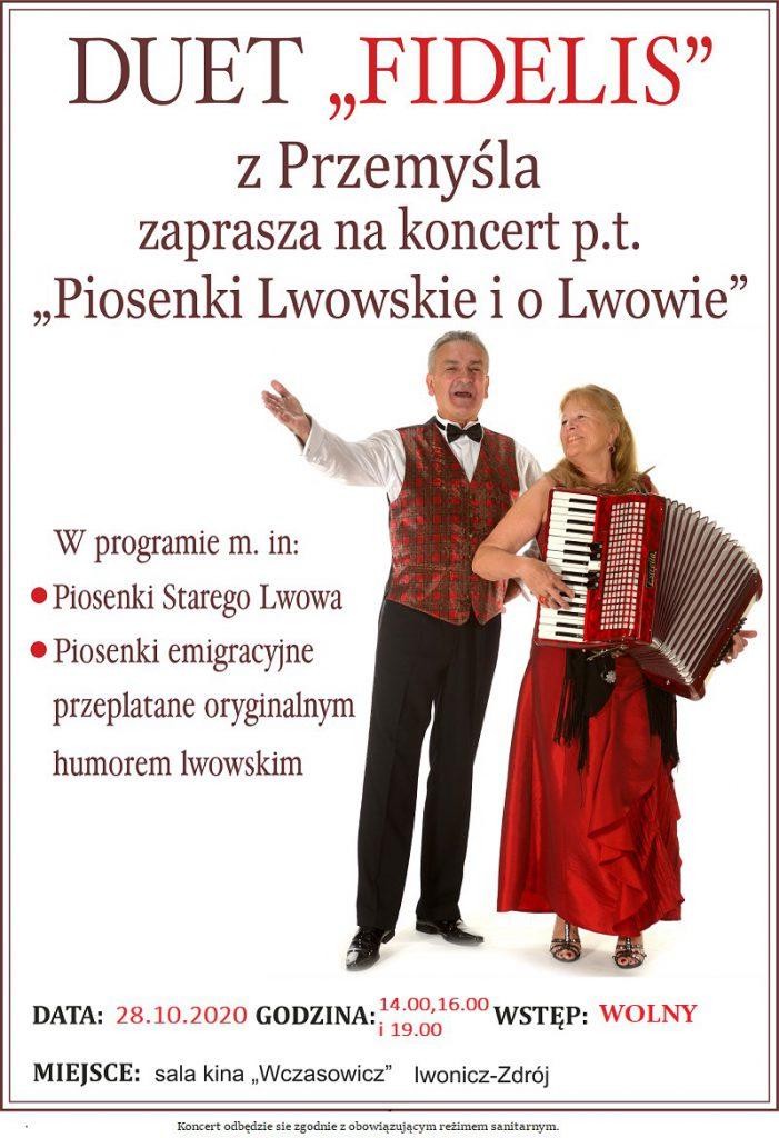 """Koncert """"Piosenki Lwowskie i o Lwowie""""w wykonaniu zespołu Fidelis"""