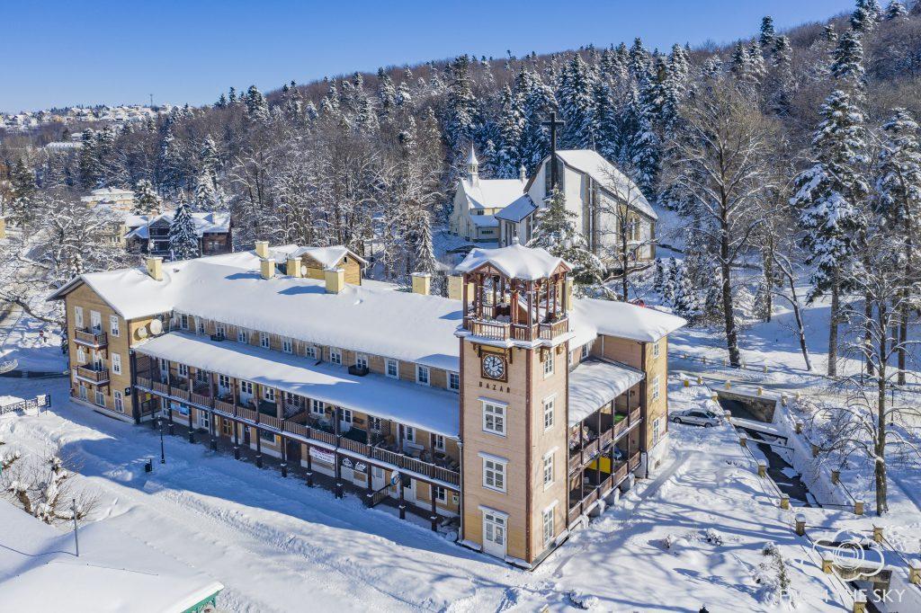 Piękny Iwonicz-Zdrój – fotografie z drona wykonane w ramach realizacji projektu Partnerstwa Ambitnej Turystyki