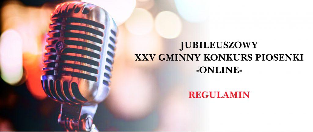 Jubileuszowy XXV Gminny Konkurs Piosenki – ONLINE-