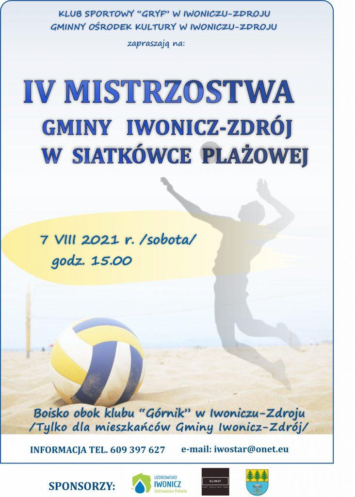 IV Mistrzostwa Gminy Iwonicz-Zdrój w piłce plażowej
