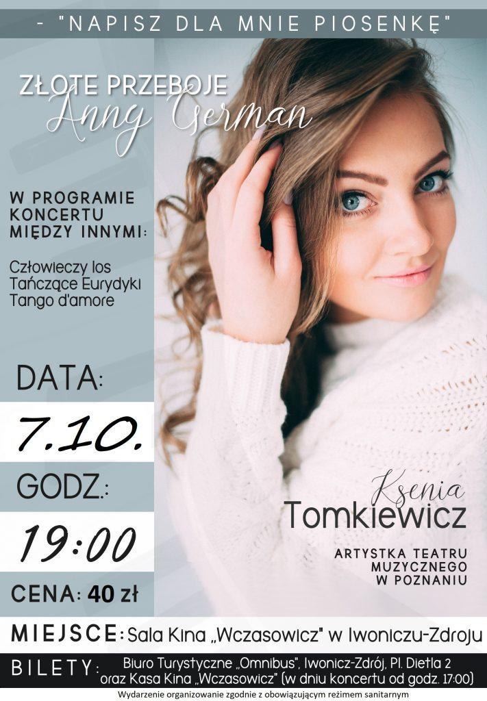 """Koncert """"Złote przeboje Anny German"""""""