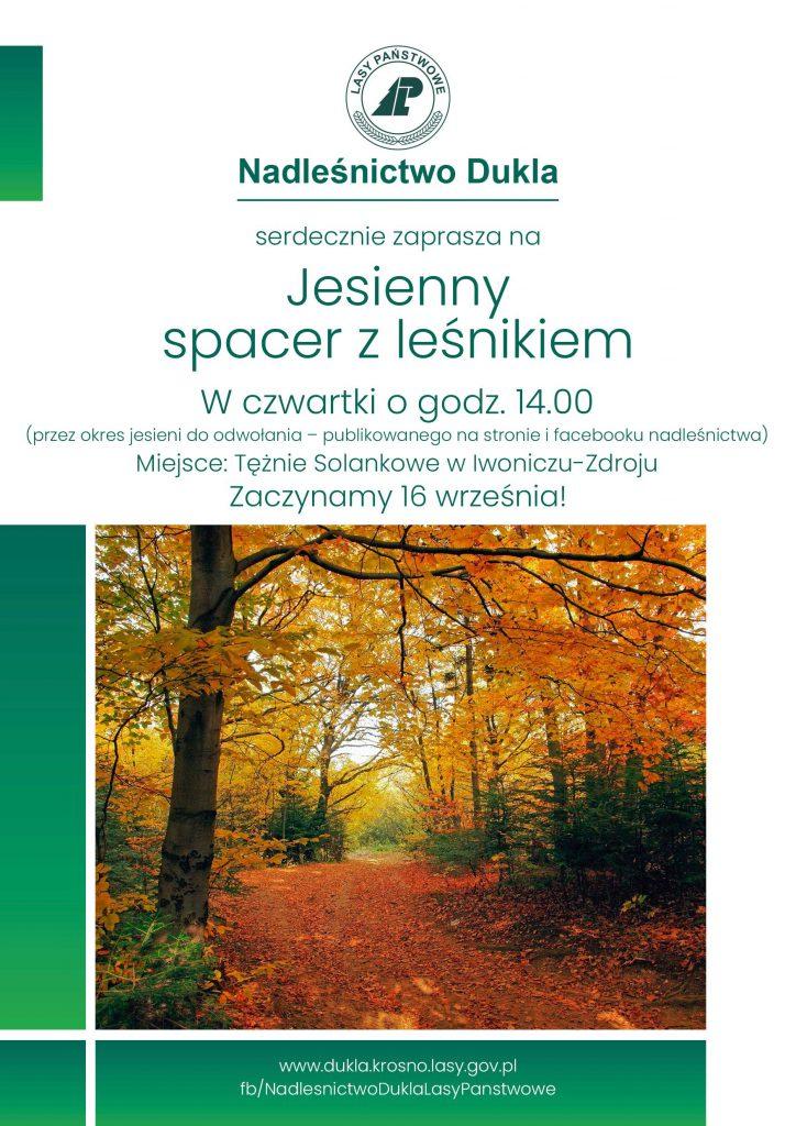 Jesienny spacer z leśnikiem